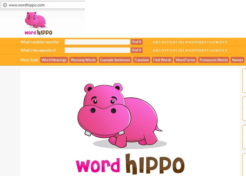 "WordHippo, a wonderful ""dictionary"" in English, French, German and Spanish Wordhi10"