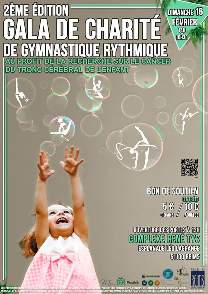 2ème édition du Gala de charité de Gymnastique Rythmique en faveur de la recherche Affich10