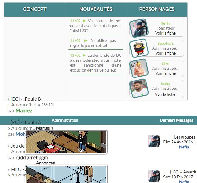 ccc - Problème défilement texte page d'accueil Rater210