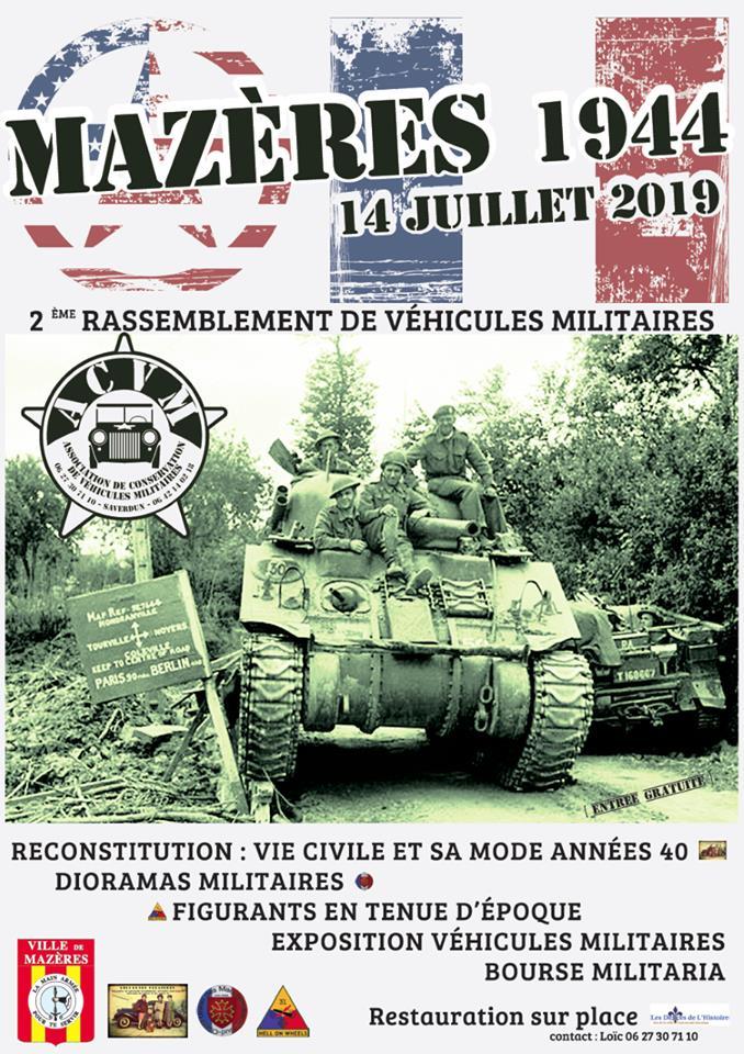 2ème Rassemblement  de Véhicules Militaire 14 juillet 2019 Mazère  (09)  58713310