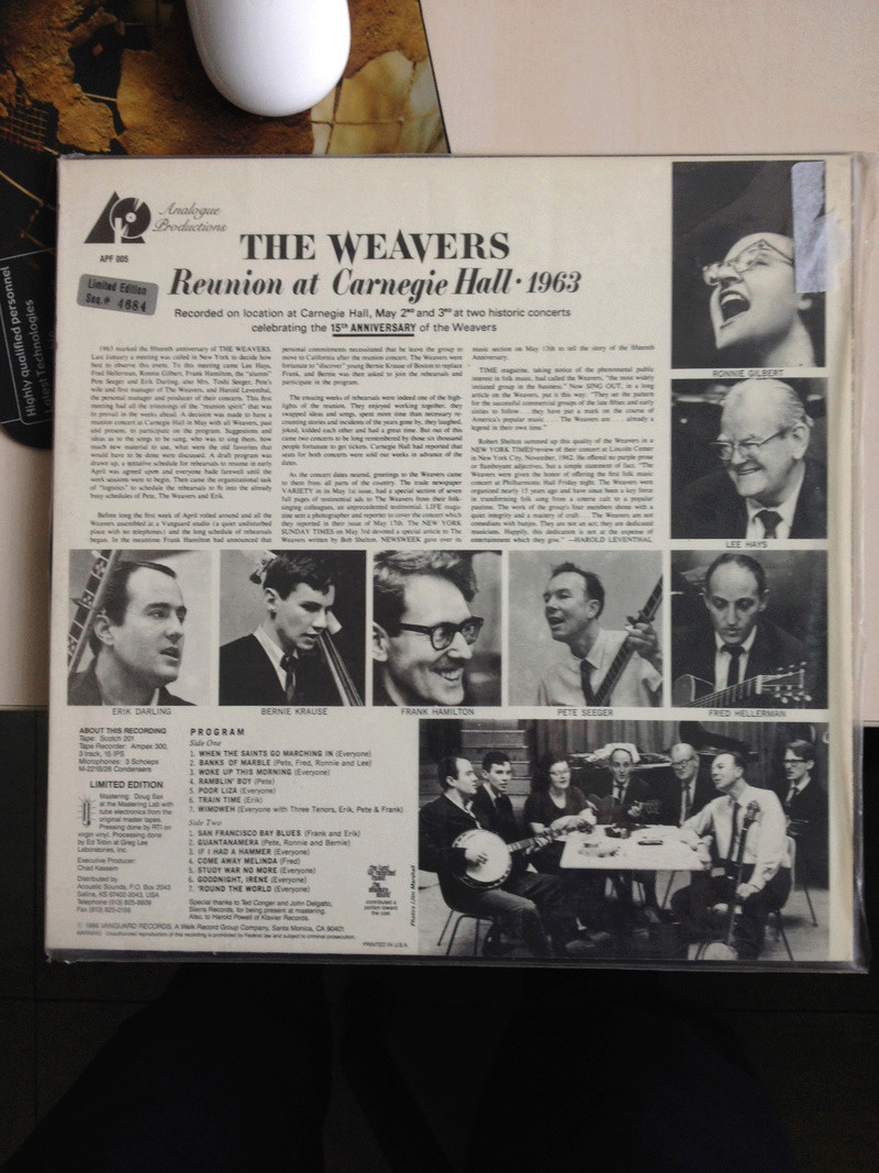 The Weavers Reunion at Carnegie Hall, 1963 Img_6912
