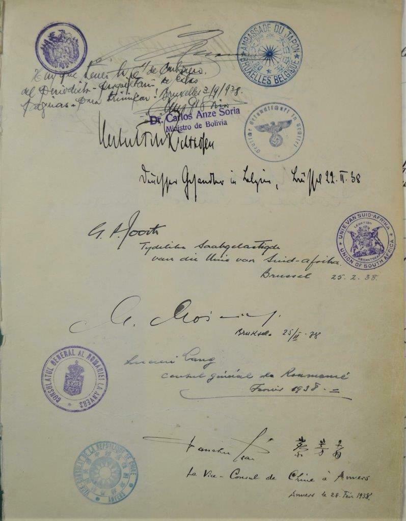 Dédicace de nombreux consuls et autres ambassadeurs S-l16019