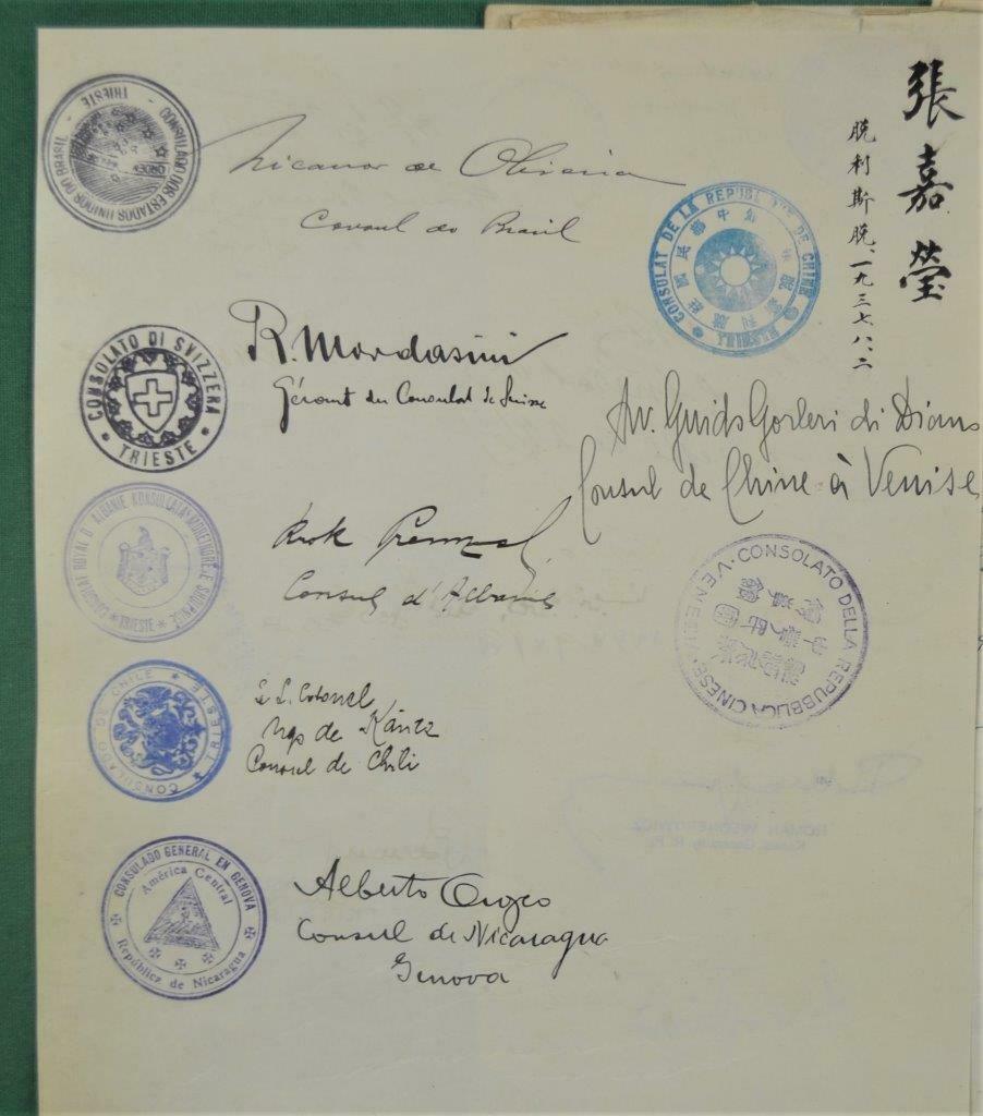 Dédicace de nombreux consuls et autres ambassadeurs S-l16020