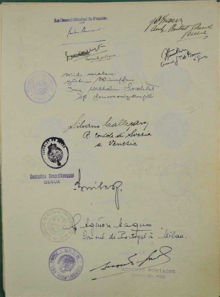 Dédicace de nombreux consuls et autres ambassadeurs S-l16023