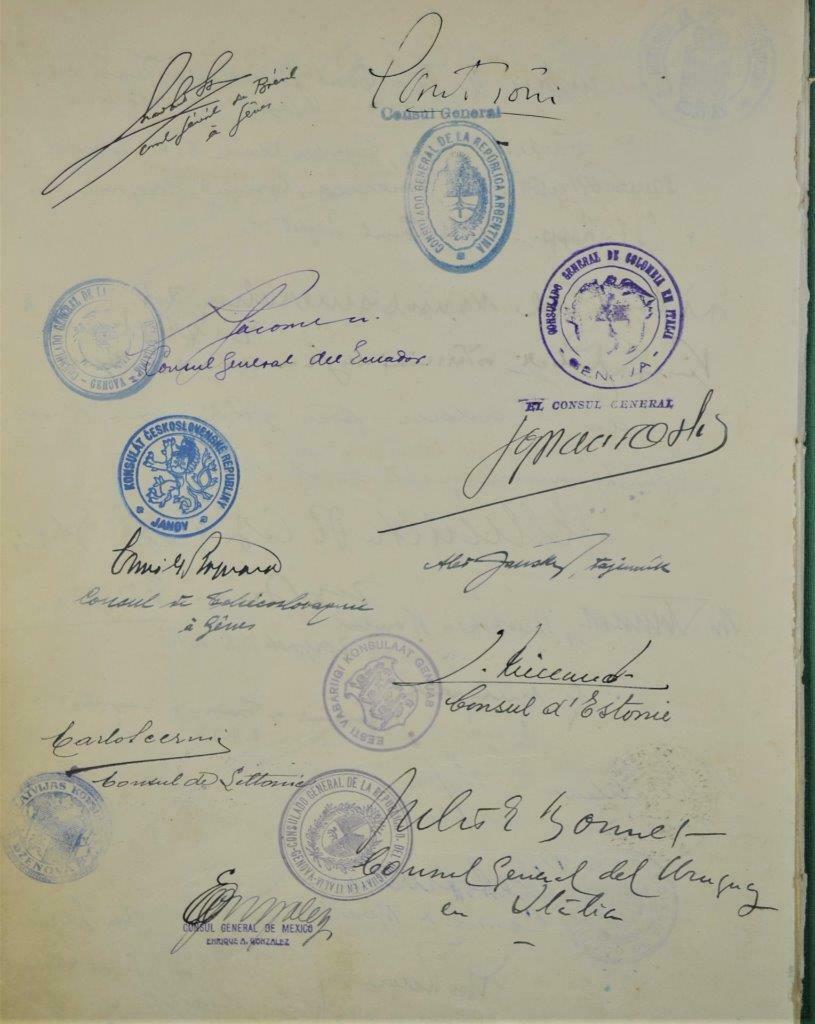 Dédicace de nombreux consuls et autres ambassadeurs S-l16025