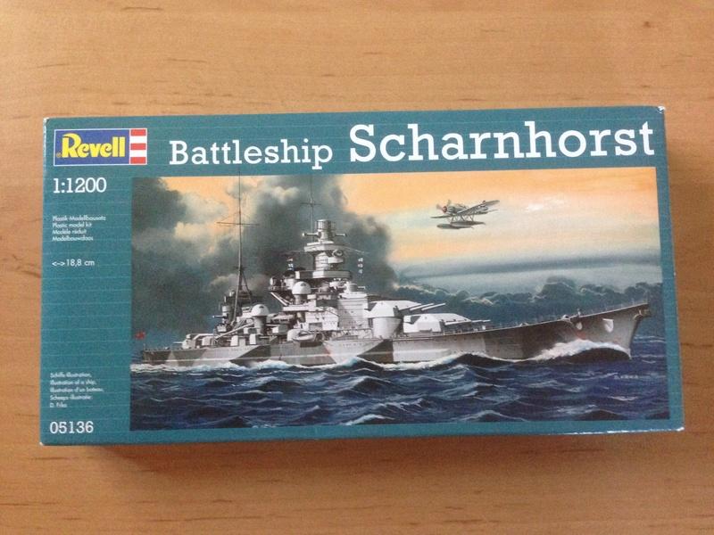 Croiseur de bataille scharnhorst 1/1200 revell Img_1024