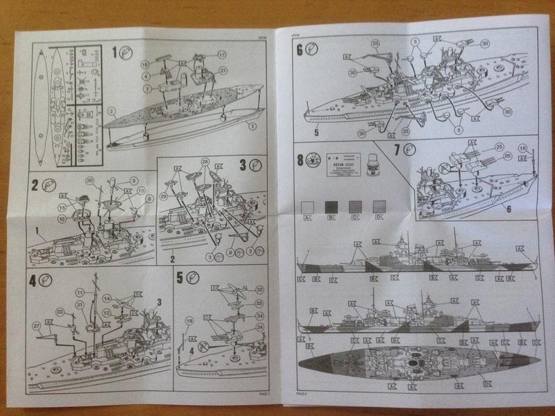 Croiseur de bataille scharnhorst 1/1200 revell Img_1026