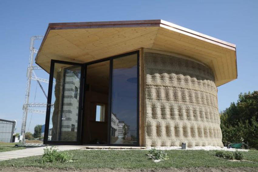 Cette maison est imprimée en 3D avec de la terre et de la paille 1336