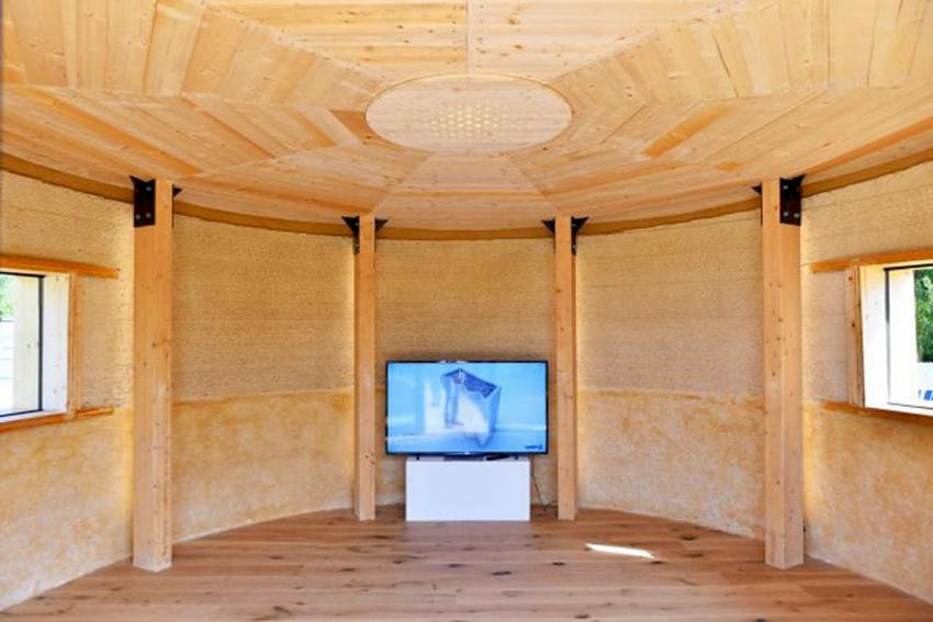 Cette maison est imprimée en 3D avec de la terre et de la paille 1338