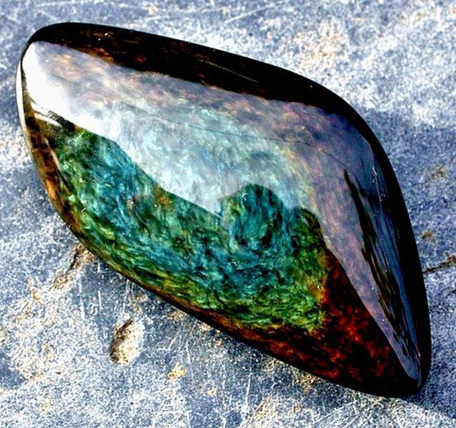 Obsidienne Manto Huichol 1679