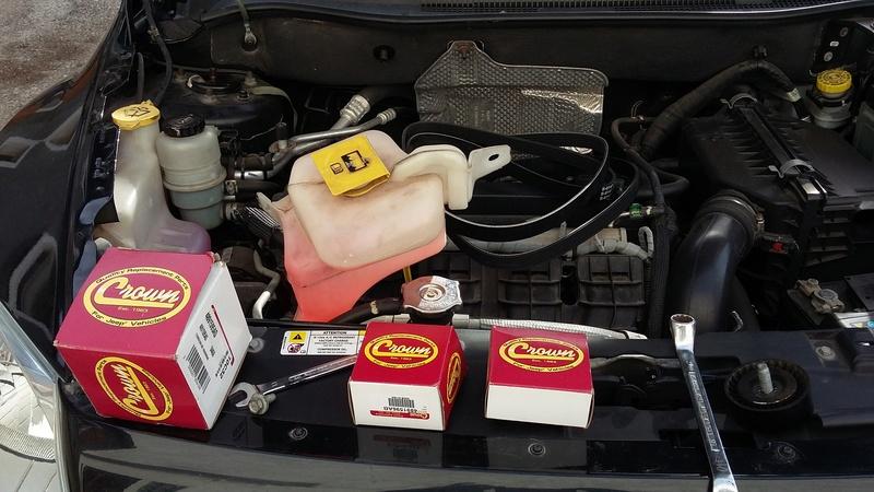 TUTO : remplacement courroie et galets Dodge Caliber essence 20170312
