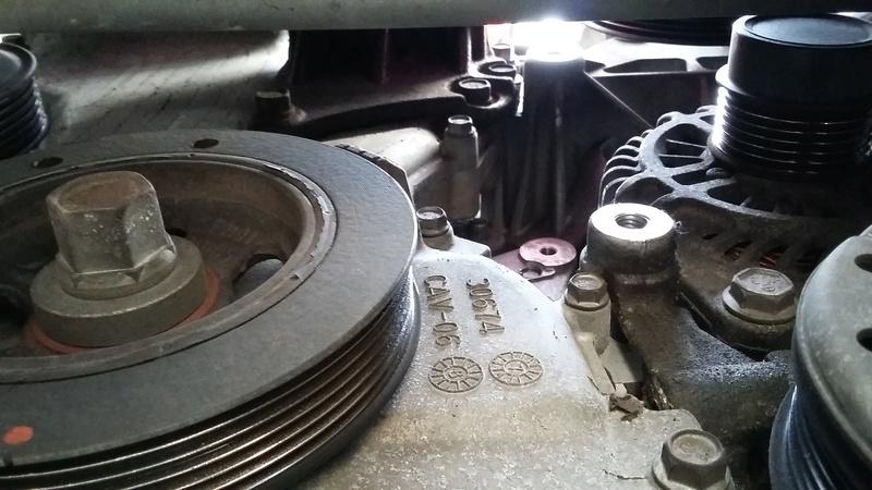 TUTO : remplacement courroie et galets Dodge Caliber essence 20170319