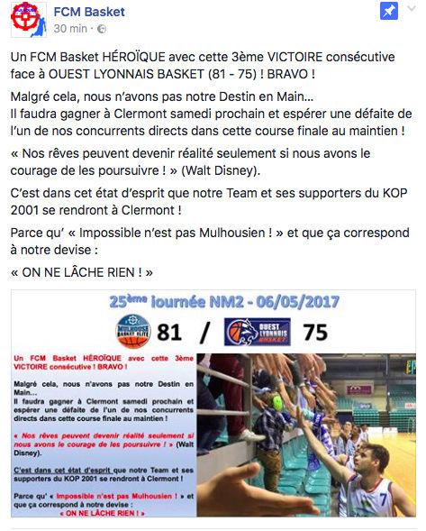 [J.25] FC MULHOUSE - Ouest Lyonnais Basket : 81 - 75 - Page 3 Captur10
