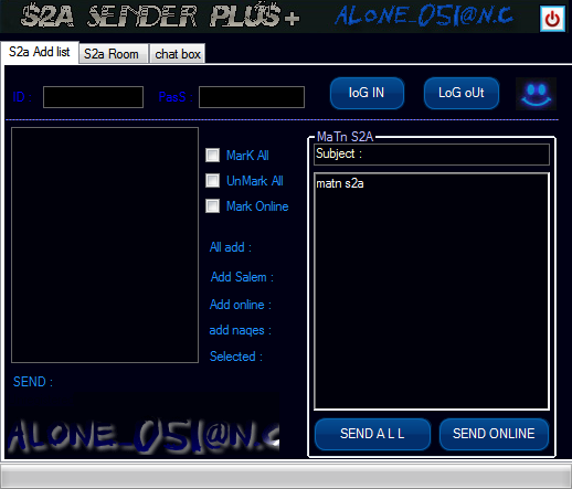 NeW V2.0} S2A sender plus+ Ver 2.0 BY :alone_051@n.c 2014-010