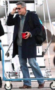 George Clooney Spotted Stepping off His Private Jet in Milan. George39