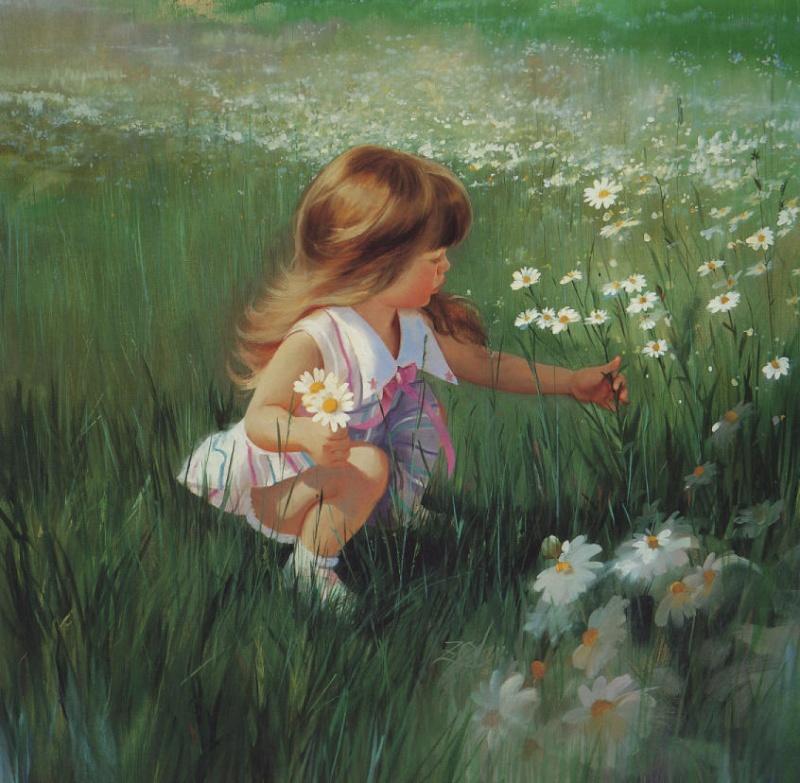 صور اطفال بالوان الزيت 11753810