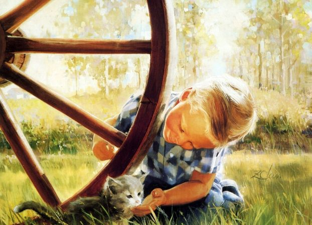 صور اطفال بالوان الزيت 49831l10