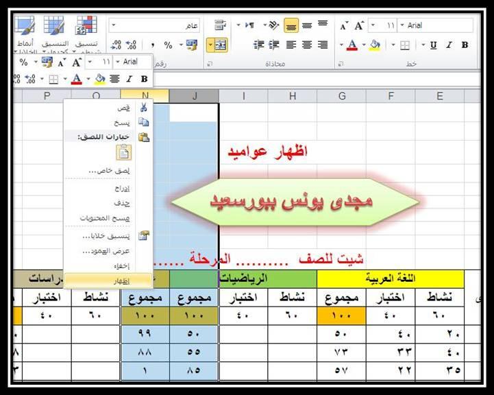 شرح كيفية عمل شيت على اكسل 2010 Oouoo_11