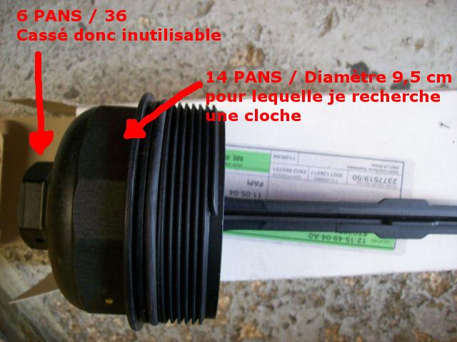 """Clé  """"Cloche"""" pour filtre à huile  Boucho10"""