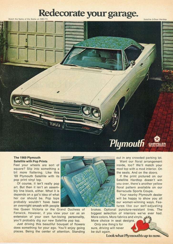 "1969 Plymouth Satellite ""Mod top"" 37687010"