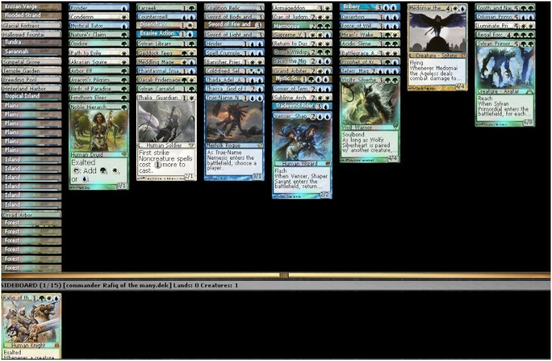 guess we interested in cmd decks now  Exalte10