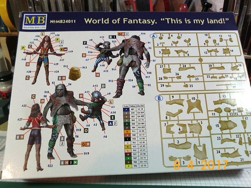 "Masterbox MB24011 - Word of fantasy - ""This is my land"" 1/24 - Baubericht 220"