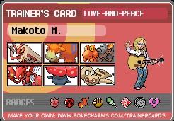 La team pokemon de votre personnage. Makoto10