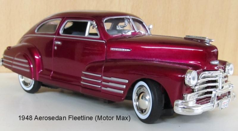 1948 Chevrolet Fleetline Aerosedan in 1 zu 24 von MotorMax 1948_a10