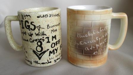 Graffiti Brick Wall shape Mug was made by Titian Potteries Ak_air10