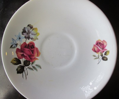 Kelston Potteries Floral Saucer is Sarah Pat.No.921 Floral13