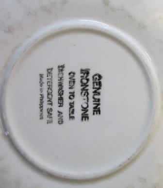 Philippine Genuine Ironstone saucer Genuin11