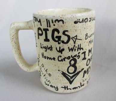 Graffiti Brick Wall shape Mug was made by Titian Potteries Graffi10