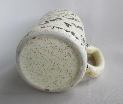 Graffiti Brick Wall shape Mug was made by Titian Potteries Graffi11