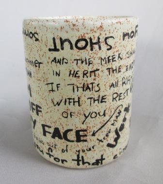 Graffiti Brick Wall shape Mug was made by Titian Potteries Grafit10