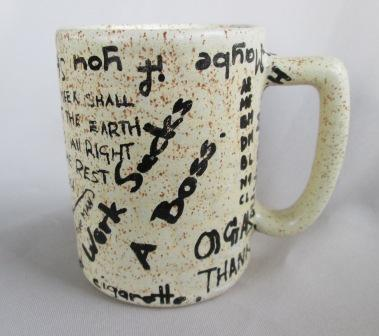 Graffiti Brick Wall shape Mug was made by Titian Potteries Grafit11