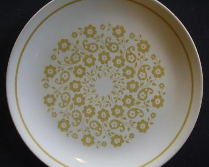 Yellow floral Plate Hippy_10