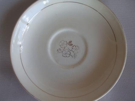 Little Gold Floral Saucer Kelsto10
