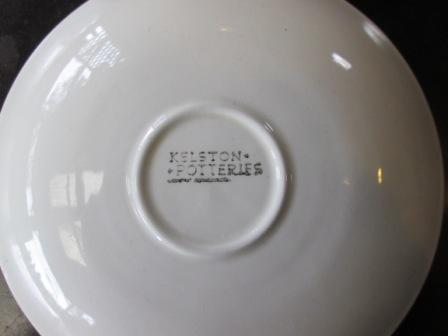 Kelston Potteries Floral Saucer is Sarah Pat.No.921 Kelsto12