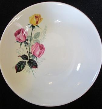 Pink & Gold Roses bowl - Ascot Pink__10
