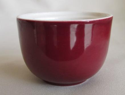 I cannot find the number for this little sugar bowl, but with Jeremy's help it is a 3614 Individual sugar bowl in Greenstone Plum_m10