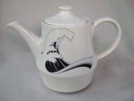 Last Wave Teapot & Coffee Pot with different decals Wave_110