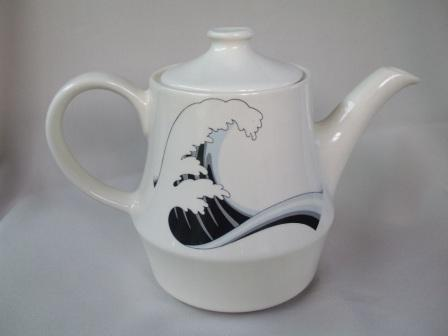 Last Wave Teapot & Coffee Pot with different decals Wave_210