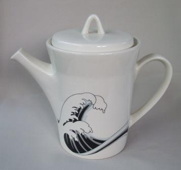 Last Wave Teapot & Coffee Pot with different decals Wave_310