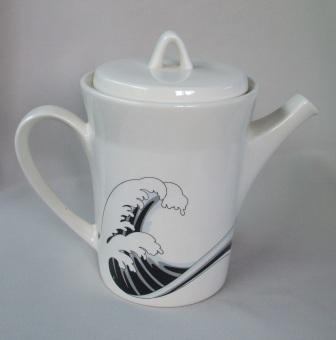 Last Wave Teapot & Coffee Pot with different decals Wave_410