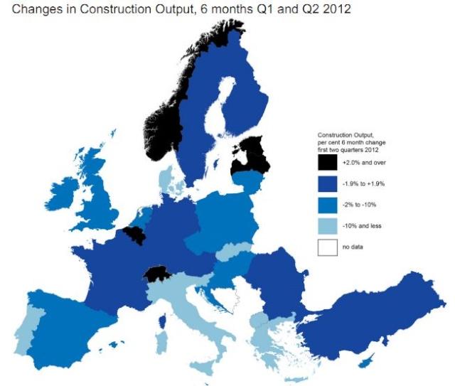 Evolución del sector de la construcción en los seis primeros meses del 2012 title=