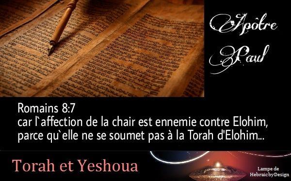 L'Apôtre Paul enseigne à suivre la Torah d'Elohim Apytre10