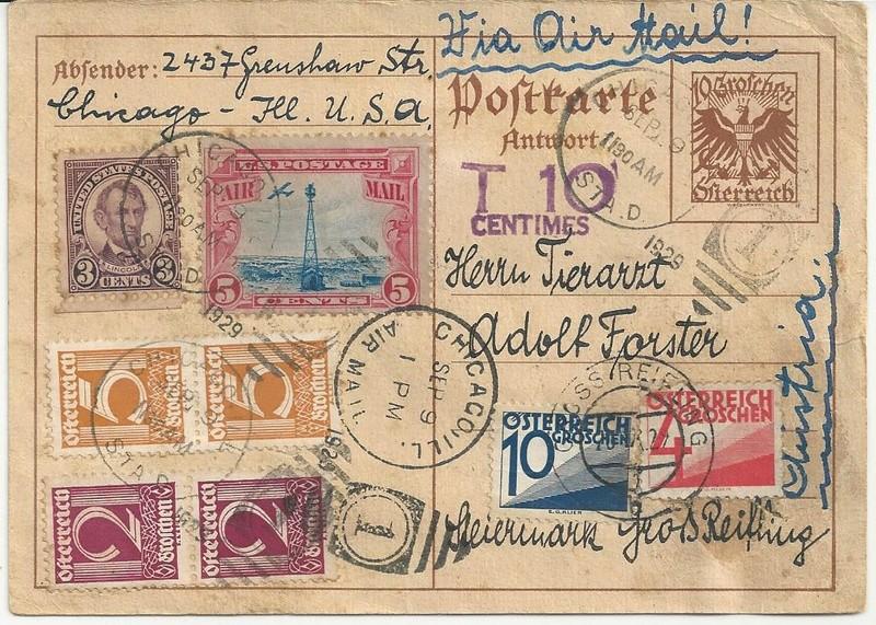 Bedarfspost Ganzsachen Österreich 1925-1938 Bild11
