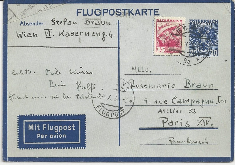 Flugpostkarten Erste Republik Bild36