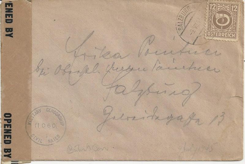 Posthornzeichnung  -  ANK 697-713  -  Belege - Seite 3 Bild49