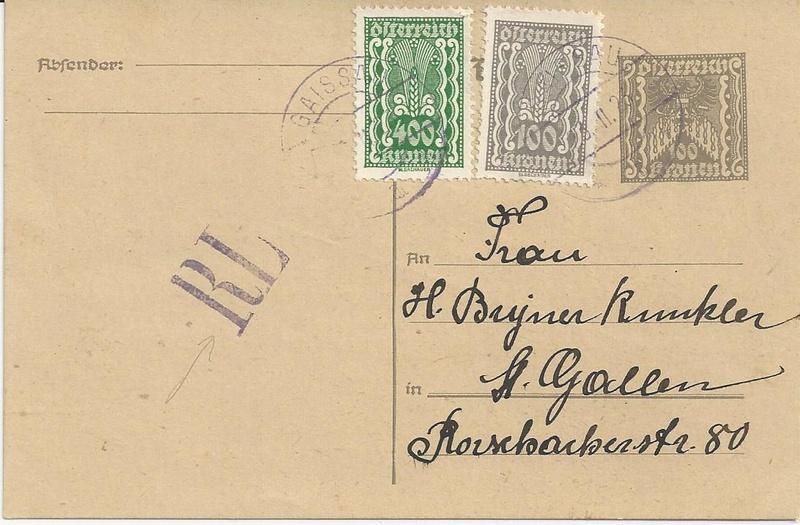 """Postkartenserie """"Quadratischer Wertstempel - Wertziffer im Dreieck"""" 1922-24 - Seite 5 Bild59"""
